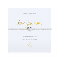 Joma Jewellery A Little LOVE YOU MUM Silver Plated Beaded Bracelet